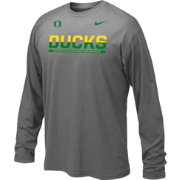 Nike Youth Oregon Ducks Anthracite Staff Sideline Long Sleeve Shirt