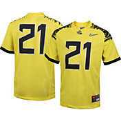 Nike Youth Oregon Ducks #21 Yellow Game Football Jersey