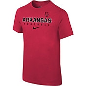 Nike Youth Arkansas Razorbacks Cardinal Core Facility Football Sideline T-Shirt