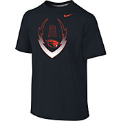 Nike Youth Oregon State Beavers Football Icon Legend Black T-Shirt