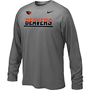 Nike Youth Oregon State Beavers Anthracite Staff Sideline Long Sleeve Shirt