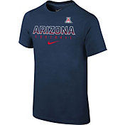 Nike Youth Arizona Wildcats Navy Core Facility Football Sideline T-Shirt
