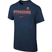 Nike Youth Syracuse Orange Blue Core Facility Football Sideline T-Shirt