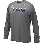 Nike Youth TCU Horned Frogs Anthracite Staff Sideline Long Sleeve Shirt