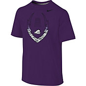 Nike Youth TCU Horned Frogs Purple Football Icon Legend T-Shirt