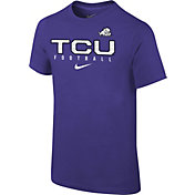 Nike Youth TCU Horned Frogs Purple Core Facility Football Sideline T-Shirt