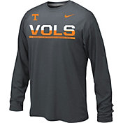 Nike Youth Tennessee Volunteers Anthracite Staff Sideline Legend Long Sleeve Shirt