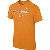 Nike Youth Tennessee Volunteers Tennessee Orange Core Facility Football Sideline T-Shirt