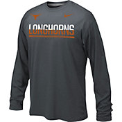 Nike Youth Texas Longhorns Anthracite Staff Sideline Legend Long Sleeve Shirt