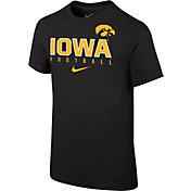 Nike Youth Iowa Hawkeyes Black Core Facility Football Sideline T-Shirt
