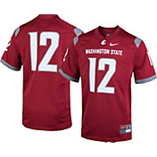 Nike Youth Washington State Cougars #12 Crimson Game Football Jersey