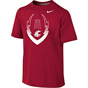Nike Youth Washington State Cougars Crimson Football Icon Legend T-Shirt