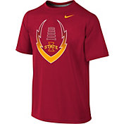 Nike Youth Iowa State Cyclones Cardinal Football Icon Legend T-Shirt