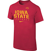 Nike Youth Iowa State Cyclones Cardinal Core Facility Football Sideline T-Shirt