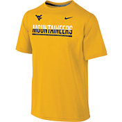Nike Youth West Virginia Mountaineers Gold Legend Staff Sideline T-Shirt