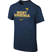Nike Youth West Virginia Mountaineers Blue Core Facility Football Sideline T-Shirt
