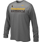 Nike Youth Wyoming Cowboys Anthracite Staff Sideline Long Sleeve Shirt