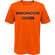 Nike Youth Denver Broncos Sideline 2016 All Football Legend Orange Performance T-Shirt