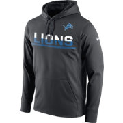 Nike Youth Detroit Lions Circuit Anthracite Pullover Hoodie