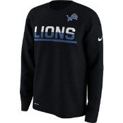 Nike Youth Detroit Lions Team Practice Black Long Sleeve Shirt