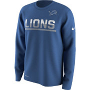 Nike Youth Detroit Lions Team Practice Blue Long Sleeve Shirt