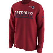 Nike Youth New England Patriots Team Practice Red Long Sleeve Shirt