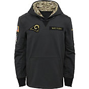 Nike Youth Los Angeles Rams Salute to Service 2016 Anthracite Pullover Hoodie