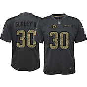 Nike Youth Home Game Jersey Los Angeles Rams Todd Gurley #30 Salute to Service 2016