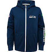Nike Youth Seattle Seahawks Circuit Navy Full-Zip Hoodie