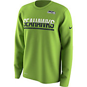 Nike Youth Seattle Seahawks Team Practice Green Long Sleeve Shirt
