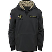 Nike Youth New Orleans Saints Salute to Service 2016 Anthracite Pullover Hoodie