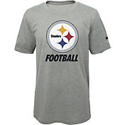 Nike Youth Pittsburgh Steelers Facility Grey T-Shirt