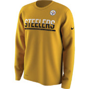 Nike Youth Pittsburgh Steelers Team Practice Gold Long Sleeve Shirt