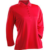 Nancy Lopez Women's Grace Three-Quarter Sleeve Golf Polo – Plus-Size