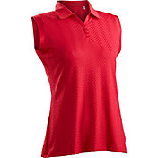 Nancy Lopez Women's Grace Sleeveless Golf Polo – Plus-Size