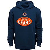 NFL Team Apparel Boys' Chicago Bears Embossed Navy Hoodie
