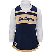 NFL Team Apparel Girls' Los Angeles Rams Cheer Jumper Dress