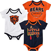 NFL Team Apparel Infant Chicago Bears 3-Pack Creeper Set