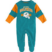 NFL Team Apparel Infant's Miami Dolphins Newborn Coverall