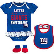 NFL Team Apparel Infant New York Giants Bib & Booty Set