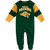 NFL Team Apparel Infant's Green Bay Packers Newborn Green Coverall