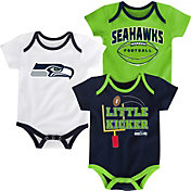 NFL Team Apparel Infant Seattle Seahawks 3-Pack Creeper Set