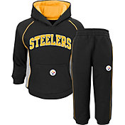 NFL Team Apparel Infant Pittsburgh Steelers Lil Fan Black Fleece Set