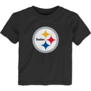 NFL Team Apparel Toddler's Pittsburgh Steelers Team Logo Black T-Shirt
