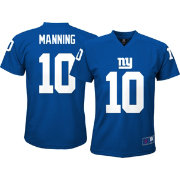 NFL Team Apparel Youth New York Giants Eli Manning #10 Blue Performance T-Shirt