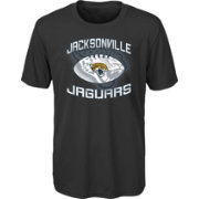 NFL Team Apparel Youth Jacksonville Jaguars Infinity Chrome Performance Black T-Shirt