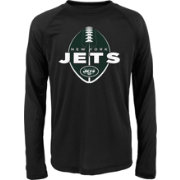 NFL Team Apparel Youth New York Jets Football Black Long Sleeve Shirt