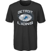 NFL Team Apparel Youth Detroit Lions Infinity Chrome Performance Black T-Shirt