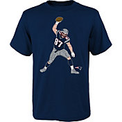 NFL Team Apparel Youth New England Patriots Rob Gronkowski Celebration Spike T-Shirt