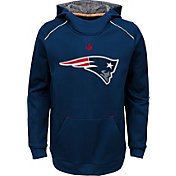 NFL Team Apparel Youth New England Patriots Pinnacle Navy Performance Hoodie